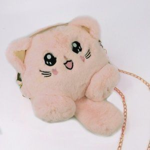 Cute Cat Plushie Bag - Pink